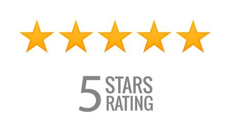 Illustration pour 5 star rating icon vector. Rate vote like ranking symbol. - image libre de droit