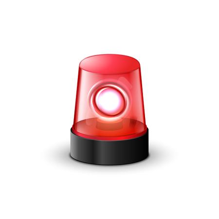 Red flashing police beacon alarm.