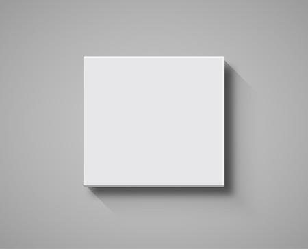Illustration pour White Box top view mockup. 3d package blank template isolated box design. - image libre de droit