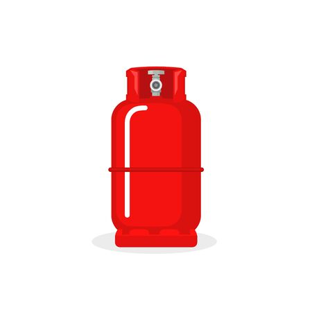 Illustration pour Gas cylinder vector tank. Lpg propane bottle icon container. Oxygen gas cylinder canister fuel storage - image libre de droit