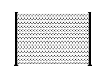 Illustration pour Fence wire metal chain link. Mesh steel net texture fence cage grid wall. - image libre de droit