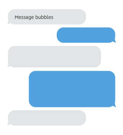 Illustration pour Message bubble chat conversation box. Text sms messenger speech balloon vector interface - image libre de droit