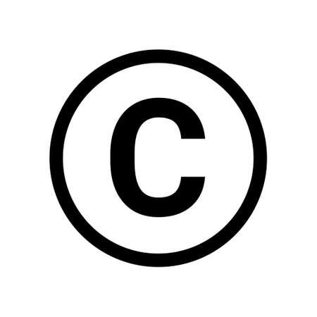 Ilustración de Copyright symbol icon vector. Copyright sign isolated icon trademark - Imagen libre de derechos