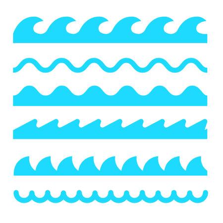 Illustration pour Wave icon vector line sea ocean water simple element illustration. Wave water icon symbol - image libre de droit
