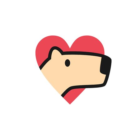 Illustration pour capybara love logo icon illustration - image libre de droit