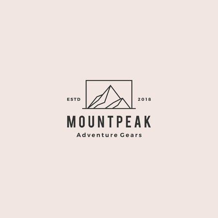 Illustration pour mount peak mountain logo hipster vintage retro vector icon illustration - image libre de droit