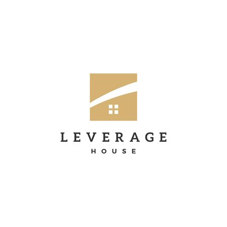 leverage house home logo vector icon