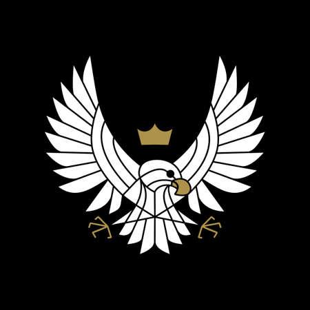 Ilustración de eagle hawk bird of prey motorcycle club logo vector icon illustration - Imagen libre de derechos