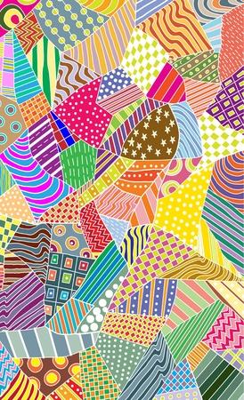 ornate colorful pattern, beautiful illustration