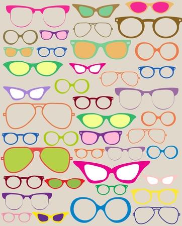 set of different eyeglasses, beautiful illustration