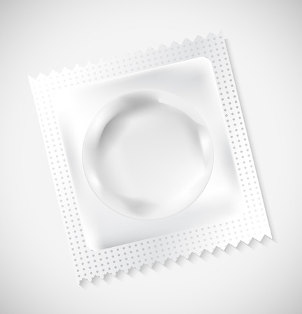 White Blank Condom Wrapper,  Foil Pack For Your Design