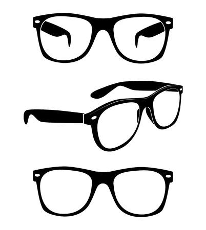 Set of glasses illustration