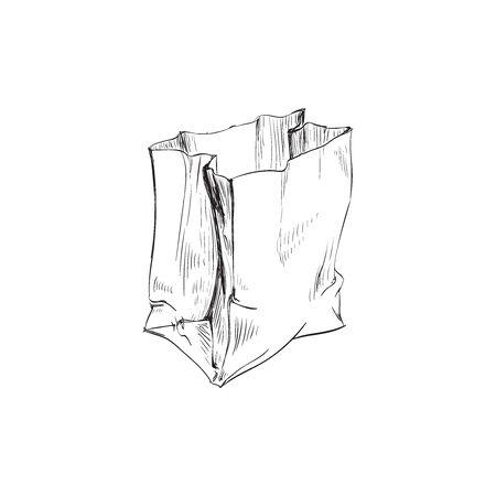 Illustration pour Bag Paper Crumpled Vector Illustration Bag Paper Crumpled Vector Illustration - image libre de droit