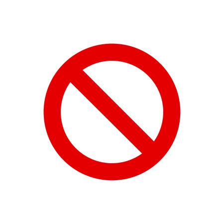Red circle forbid sign.