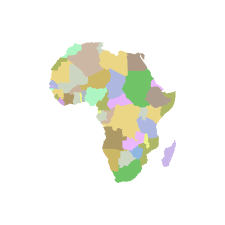 Continent Africa on a white illustration.