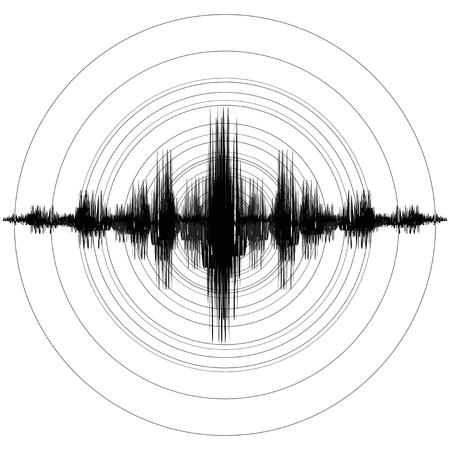 Illustration pour Earthquake. Richter Earthquake Magnitude Scale. Vector illustration - image libre de droit