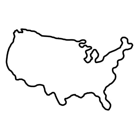 Illustration pour States of America territory on white background. North America. Vector illustration. - image libre de droit