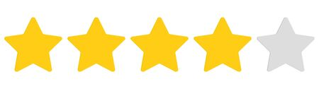 Illustration for Rating stars. Five stars customer product rating review. Ranking symbol. Vector illustration. EPS 10 - Royalty Free Image