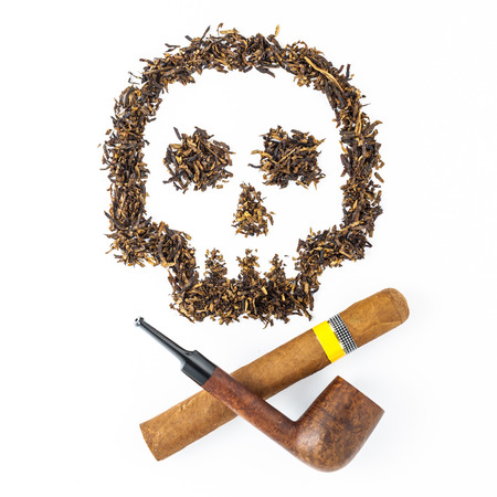 tabac art with pipe and cigar health warning