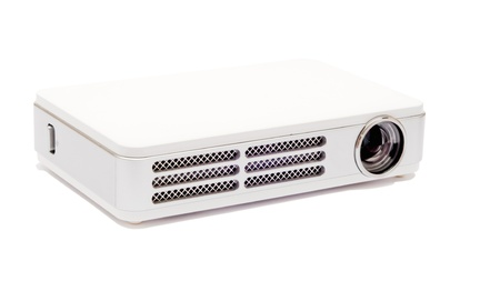 Isolated pico projector on the white background