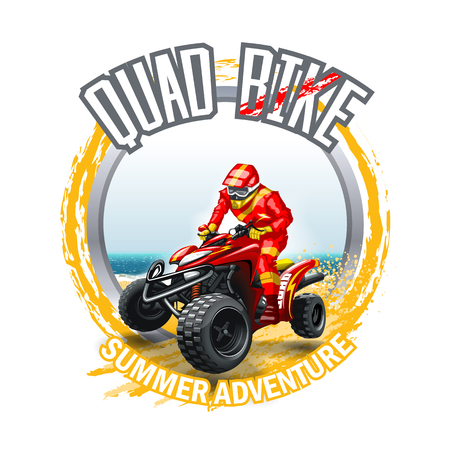 Illustration for ATV Quad Bike logo.  High Resolution vector file - Royalty Free Image