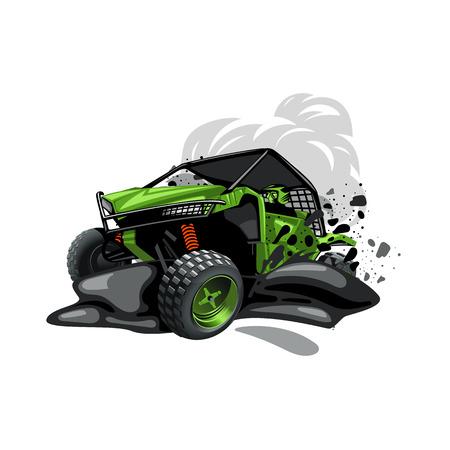 Ilustración de Two colors artwork. EPS 10 Vector graphics. Layered and editable. - Imagen libre de derechos