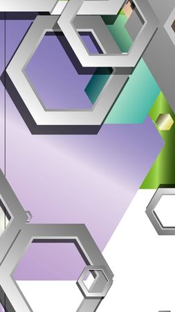Photo pour Abstract geometric background with hexagon jewels color compositions. Vector illustration - image libre de droit