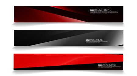 Ilustración de Modern web banner background. abstract vector template design. light effect illustration - Imagen libre de derechos