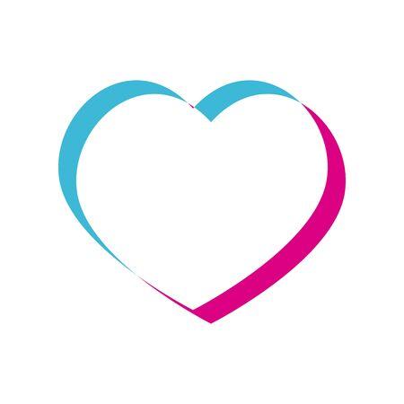 Illustration pour Heart lighten style icon design of love passion and romantic theme Vector illustration - image libre de droit