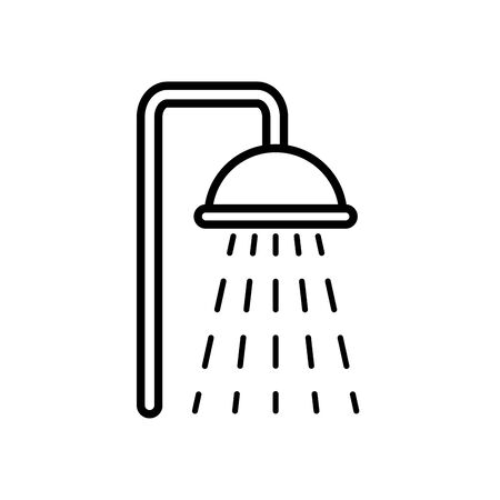 shower faucet icon over white background, line style, vector illustration