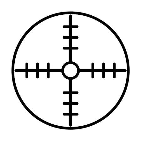 Illustration pour scope target icon over white background, line style, vector illustration - image libre de droit