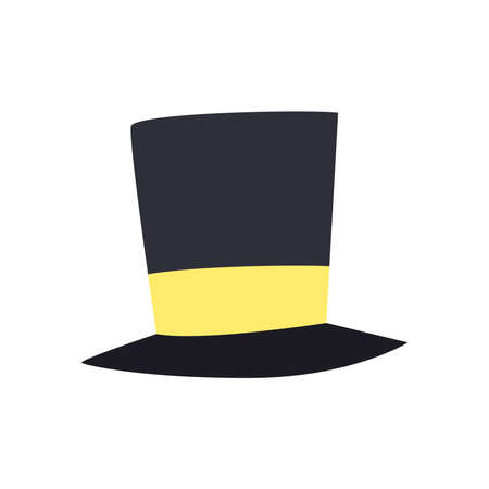 Illustration for Hat free form style icon design, Cloth costume accessory decoration uniform object season and traditional theme Vector illustration - Royalty Free Image