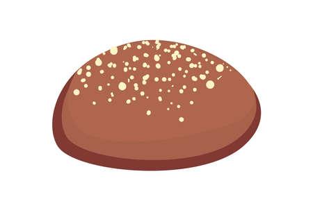 Illustration pour grain bread of bakery food - image libre de droit
