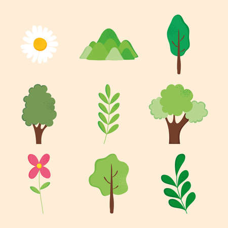 Illustration pour flowers and nature - image libre de droit