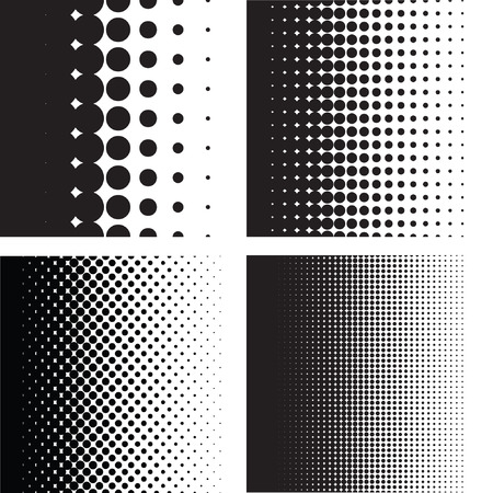 Illustration pour Halftone dots pattern gradient set in vector format - image libre de droit