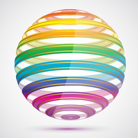 illustration of colorful sphere on abstract background