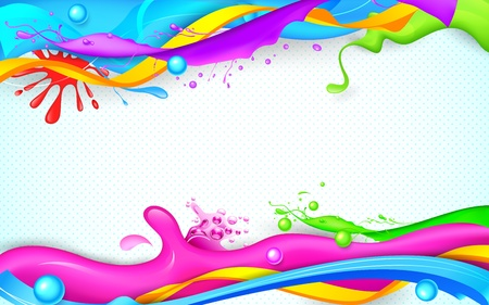 illustration of colorful splash in Holi wallpaper