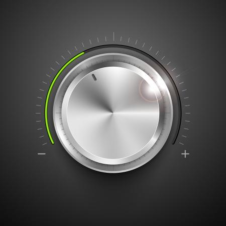 illustration of chrome knob for adjustment