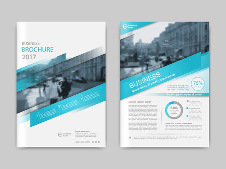 Illustration for Annual report,  presentation, brochure. Front page report , book cover layout design. Design layout template in A4 size . Abstract green transparent polygons cover templates - Royalty Free Image