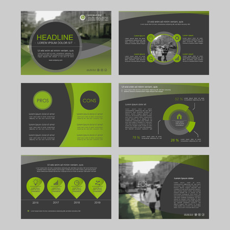Illustration pour Set of color infographic elements for presentation templates. Leaflet, Annual report, book cover design. Brochure, layout, Flyer layout template design. - image libre de droit