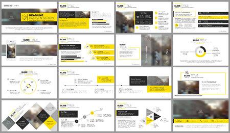 Illustration pour Elements for presentation templates. - image libre de droit