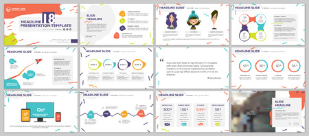 Ilustración de Elements for presentation templates. - Imagen libre de derechos