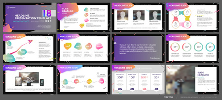 Illustration pour Business presentation template set. - image libre de droit