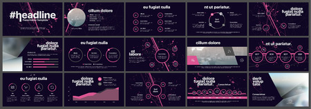 Ilustración de Elements for infographics on a white background. Presentation templates. Use in presentation, flyer and leaflet, corporate report, marketing, advertising, annual report, banner. - Imagen libre de derechos