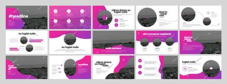 Photo pour Geometric Graphic Design Project Proposal Presentation. Infographic Slide Template. For use in Presentation, Flyer and Leaflet, SEO, Marketing, Webinar Landing Page Template, Website Design, Banner. - image libre de droit