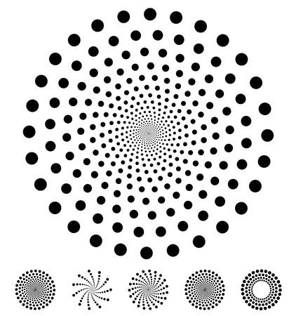 Illustration pour Dots pattern. Vector elements made of circles. Vector design elements, circular dotted symbols, motifs - image libre de droit