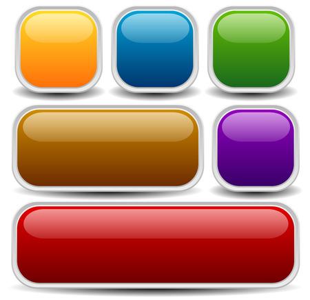 Ilustración de Vector illustration of a set of web or print buttons, banners or bars - Imagen libre de derechos