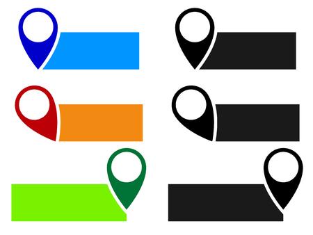 Illustration pour Map pin, map marker vector. Arrow, pointer icon for cartography, location, destination concepts... - image libre de droit