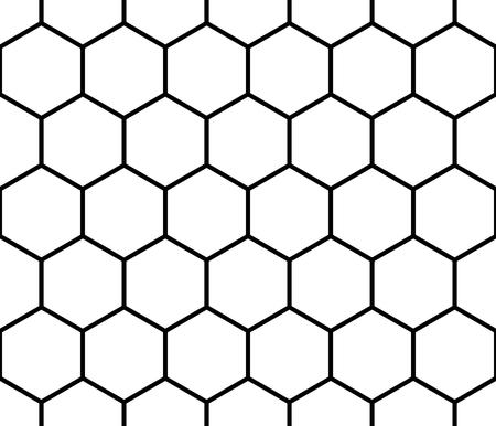 Illustration pour Seamless monochrome pattern, background with octagon shapes. - image libre de droit