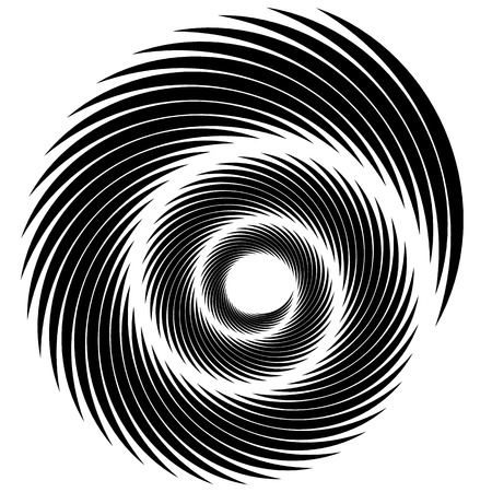 Abstract spiral, swirl, twirl element. Editable vector graphic.